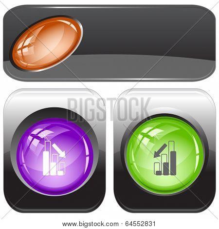 Graph degress. internet buttons.