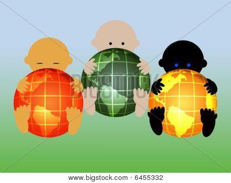 Three international babies