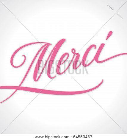 MERCI hand lettering (vector)
