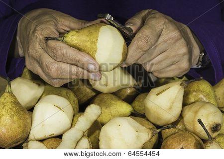 Left-handed peeling cooking-peers