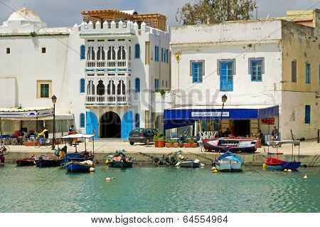 People Are Resting In Resort Town Bizerte In Tunisia, Africa