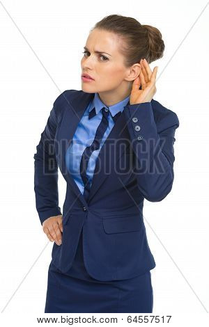 Portrait Of Business Woman Listening
