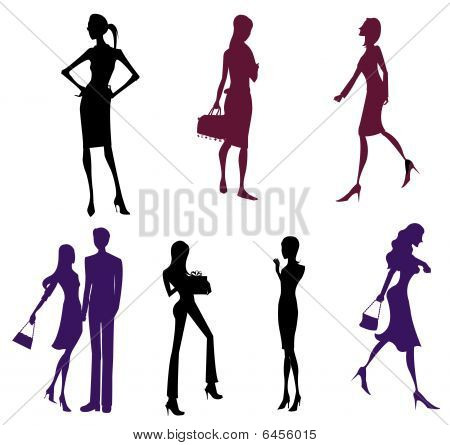 female and man silhouette