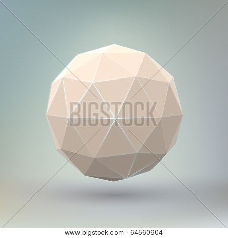 Abstract geometric spherical shape.