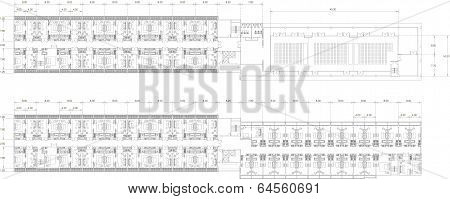 Interior And Architect Drawing Plan Of Of Residential Apartment
