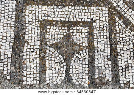 Mosaic floor - Villa Adriana, Tivoli