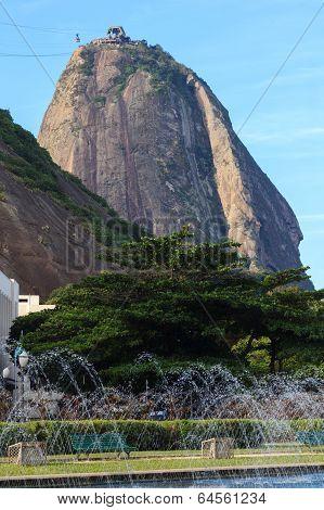 Sugarloaf With Fountain, Rio De Janeiro