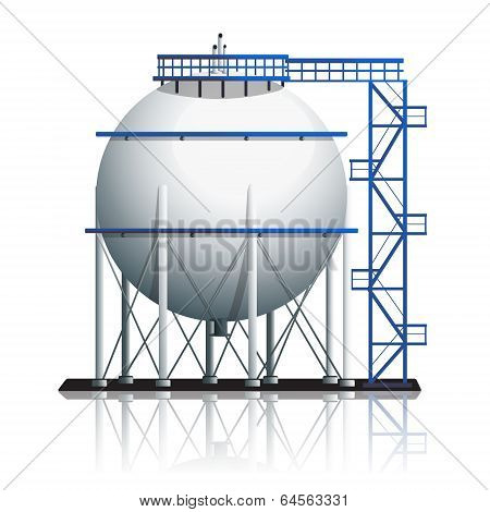 Oil Tank Ball With Reflection