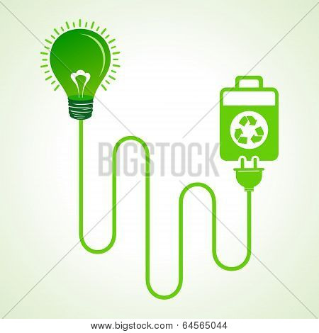 Light bulb charged by a eco cell concept