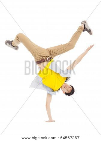Young Man Dancing Stylish And Cool Breakdance