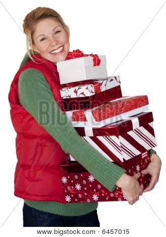 Christmas Shopping Woman