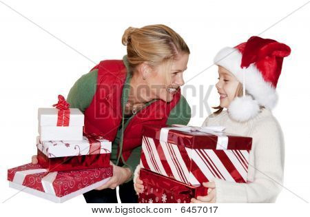 Giving Christmas Presents
