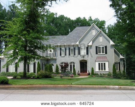 Grey Brick Homes http://www.bigstockphoto.com/image-645724/stock-photo-gray-brick-house