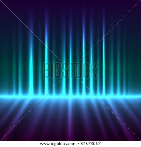 Abstract aurora borealis lights background.