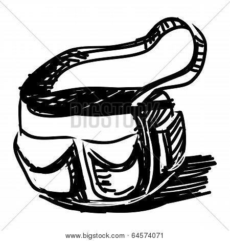 Bag sketch vector illustration