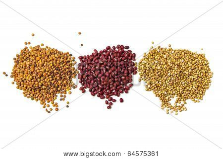 Buckwheat, azuki and lentils