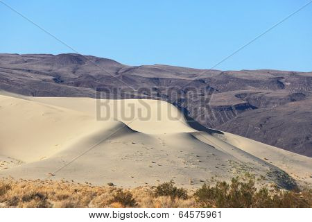 A huge sand dune in Eureka. California, USA