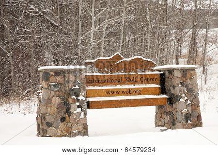 International Wolf Center Sign