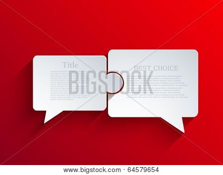 vector flat bubble speech background.