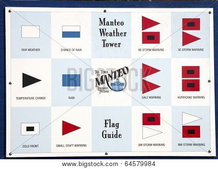 Manteo Weather Tower Flag Guide