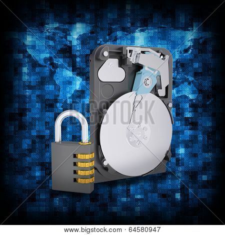 Binary code and HDD with combination lock