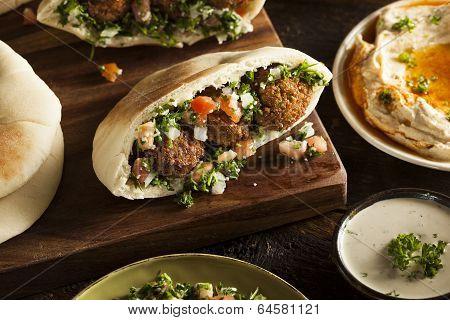 Healthy Vegetarian Falafel Pita
