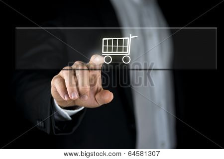 Shopping Cart On A Navigation Bar