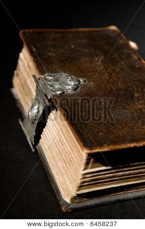 Old Bible On Black