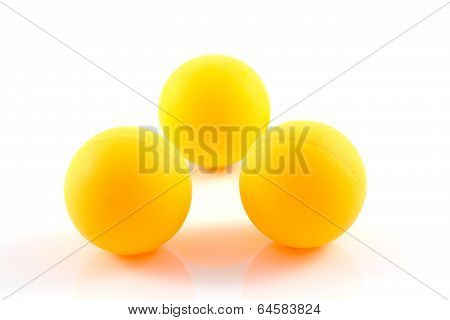 Table Tennis Orange Ball Isolated