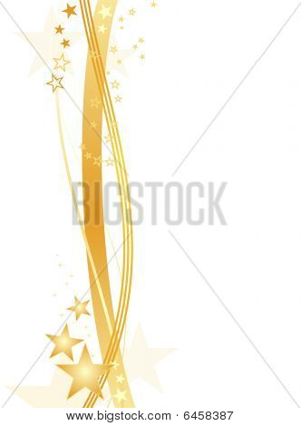 Golden stars on white, border