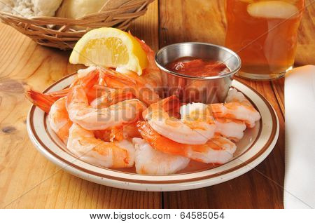 Shrimp Wiht Cocktail Sauce