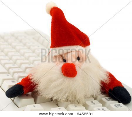 Santa Hat And Keyboard