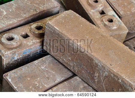 Brown Concrete Construction Blocks
