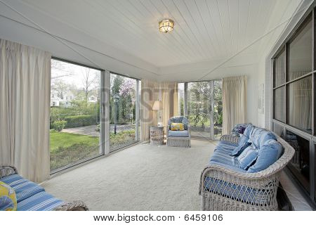 Sunroom With Patio View