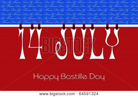 Bastille Day Bunting Wallpaper