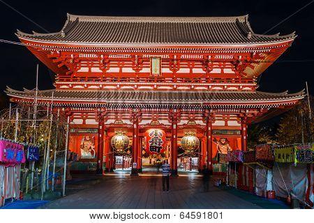Hozomon (Treasure-House Gate) at Sensoji Temple in Tokyo