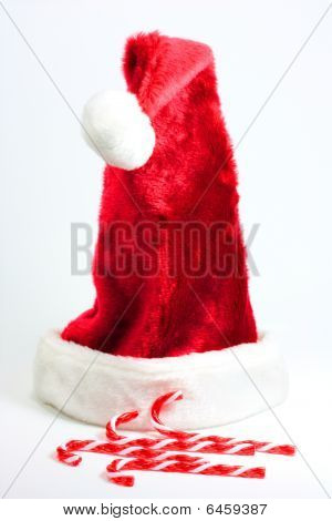 Santa Hat And Candy