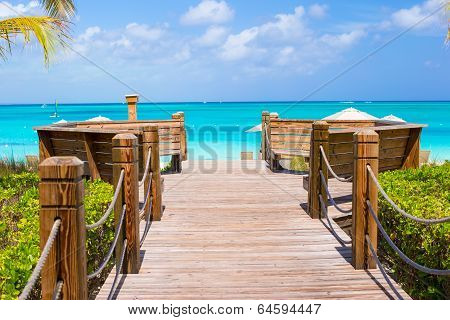 Beautiful landscape on Providenciales Island in the Turks and Caicos, Caribbean