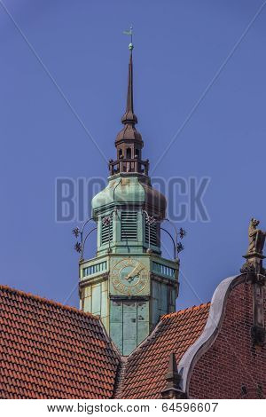 Detail Of A Church At The Koberg Square In Lubeck