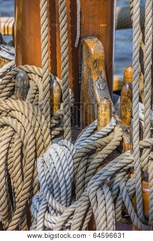 Ropes On A Ship In Lubeck