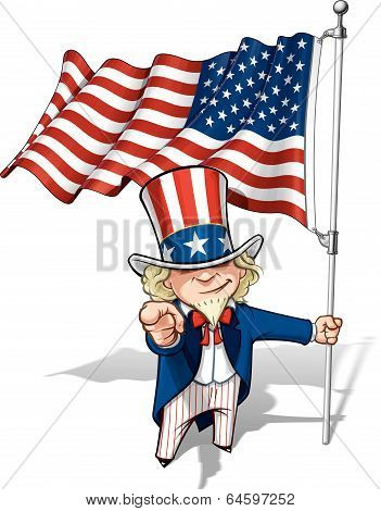 Uncle Sam I Want You - American Flag