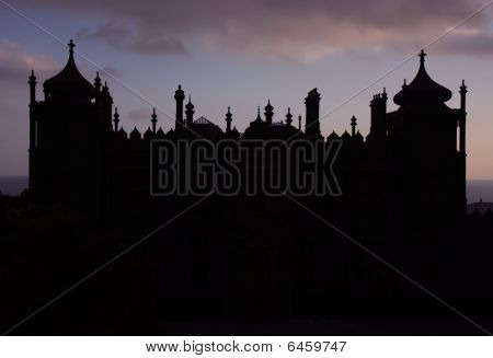 Silhouette Of Ancient Castle