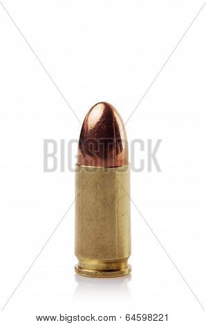 Single 9 mm bullet cartridge