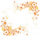 stock photo of profusion  - illustration drawing of beautiful orange flower pattern - JPG