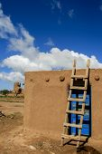 image of pueblo  - Houses in Taos Pueblo in New Mexico USA - JPG