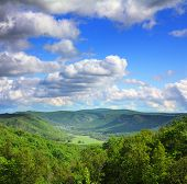 image of ural mountains  - mountain summer landscape in Russia Ural - JPG