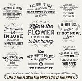 stock photo of philosophy  - Set of Quotes Typographical Posters - JPG