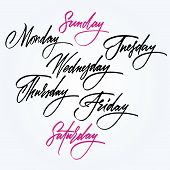 pic of weekdays  - Days of the week - JPG