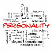 foto of character traits  - Personality Word Cloud Concept with great terms such as cheerful character behavior and more - JPG