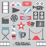 pic of comedy  - Collection of the cinema  and movie theater related icons and symbols - JPG